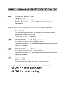 GROUP A = The Seven Chairs GROUP B = Under the Rug