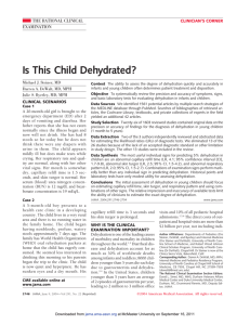Is This Child Dehydrated? - Faculty of Health Sciences