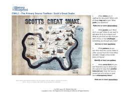 CW6.2 – The Primary Source Toolbox: Scott's Great Snake