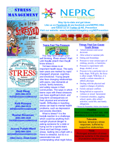 NEPRC Resource on Teens and Stress