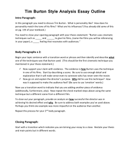 Style analysis essay outline