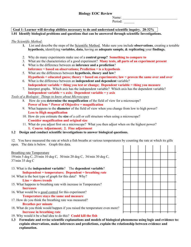 Eoc Biology Study Guide - tershara
