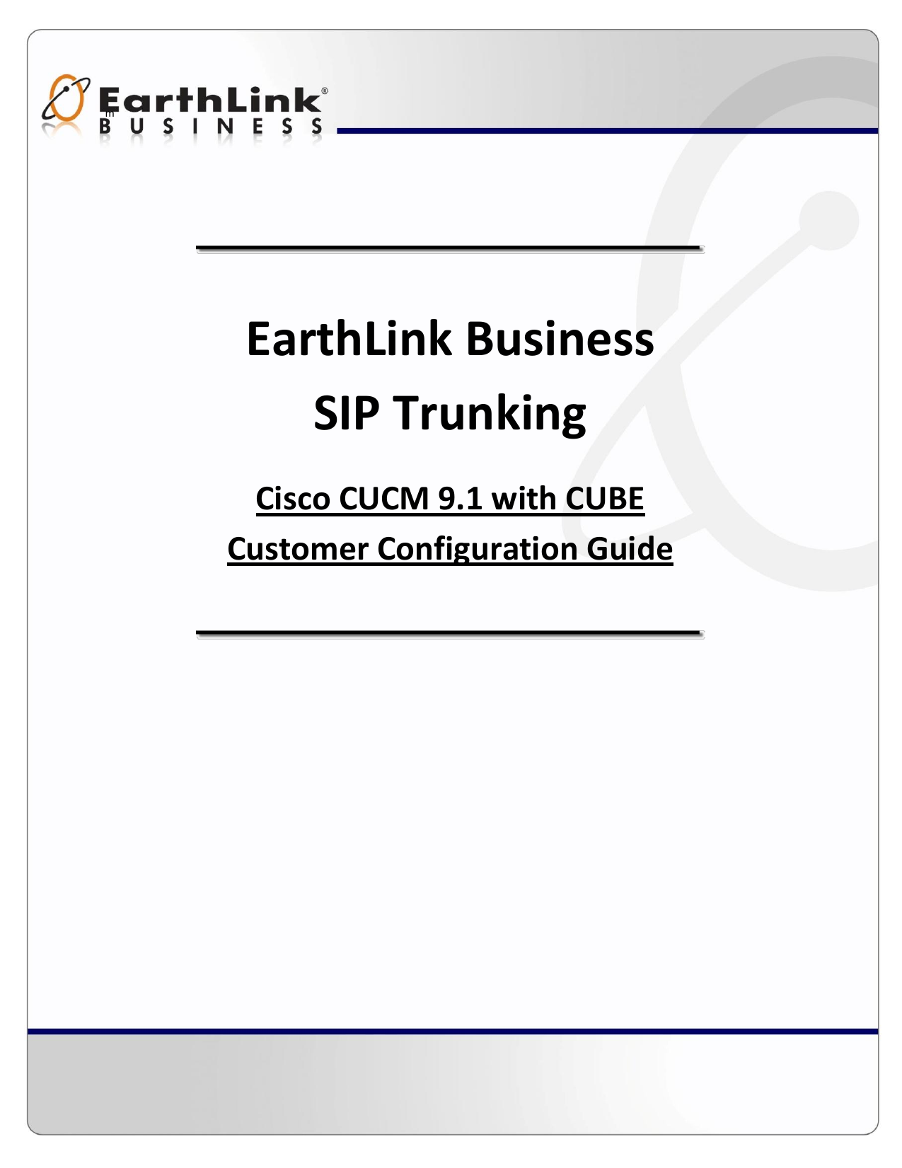 EarthLink Business SIP Trunking