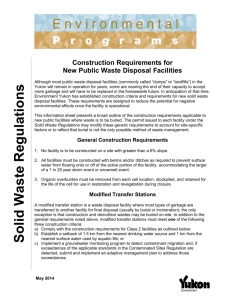 Facility Construction Requirements