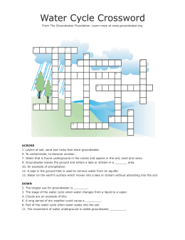 Water Cycle Crossword.indd