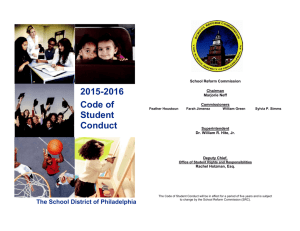 2015-2016 Code of Student Conduct