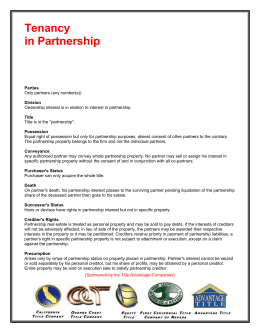 Tenancy in Partnership