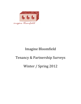 Imagine Bloomfield Tenancy & Partnership Surveys