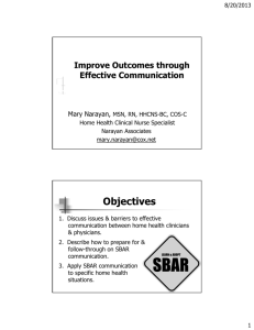 Improve Outcomes through Effective Communication Effective