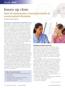 Issues up close (Jan'14) - American Nurses Association