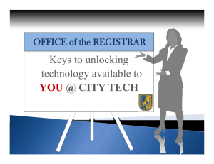 Keys to unlocking - New York City College of Technology
