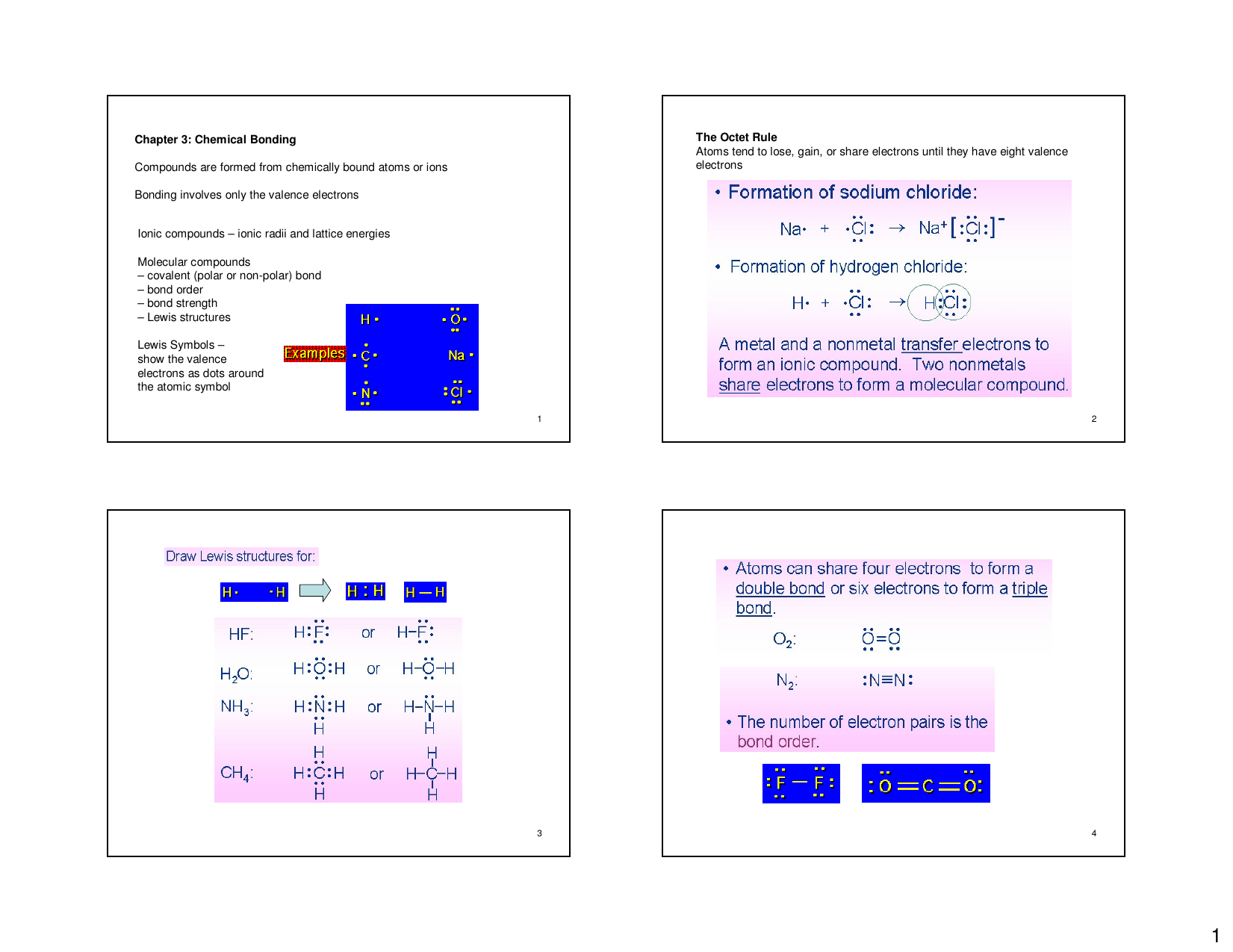 Chapter 3 Chemical Bonding Compounds Are Formed From