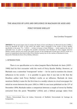 the analysis of love and influence in machado de