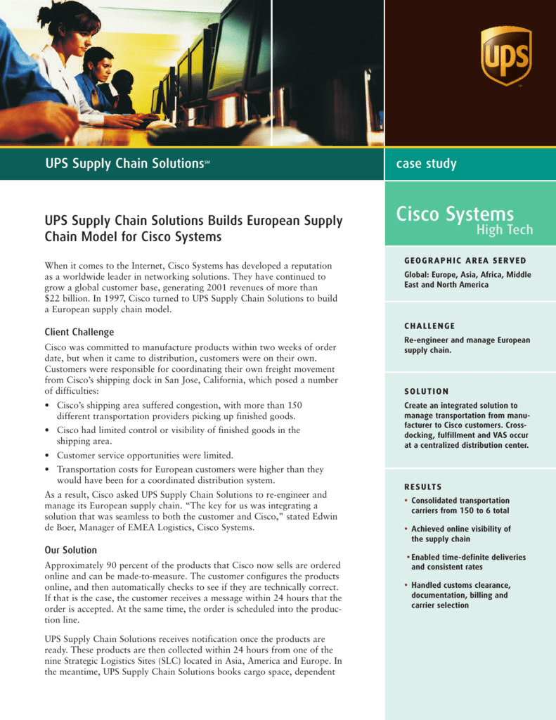 1f95463f91bc Cisco Systems - UPS Supply Chain Solutions