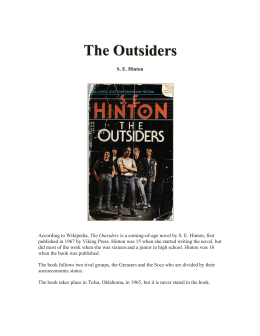 Outsiders book study