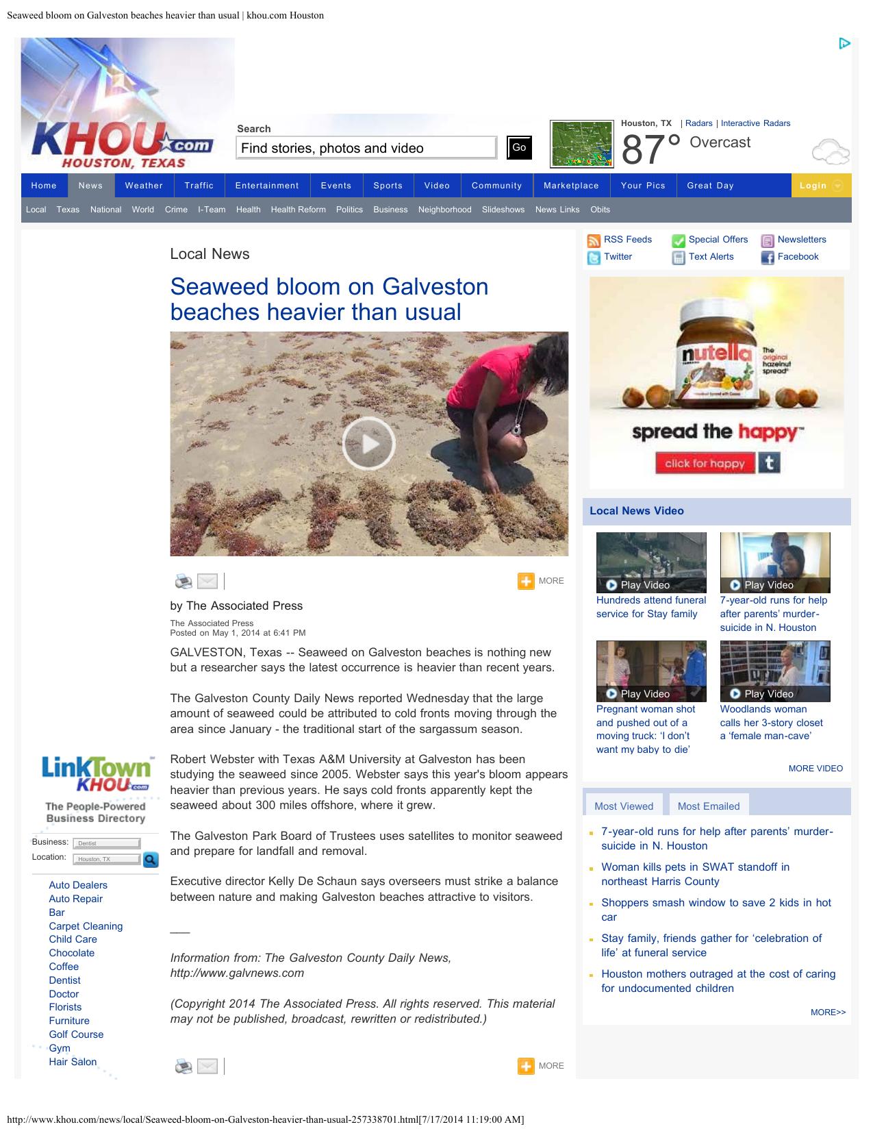 Seaweed khou com Houston