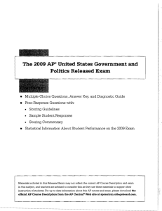 The 2009 Ap® United States Government and Politics Released Exam