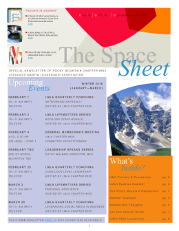 The Space Sheet - National Management Association