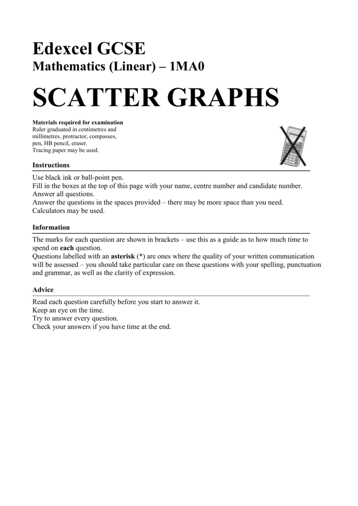 Scatter graphs castleford academy ccuart Gallery