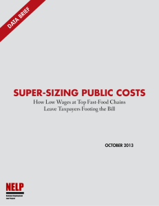 Super-Sizing Public Costs - National Employment Law Project