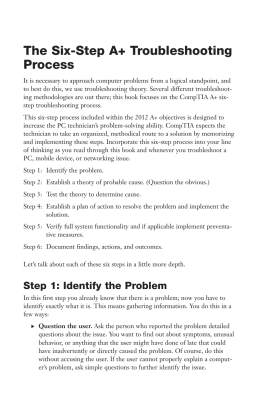 The Six-Step A+ Troubleshooting Process