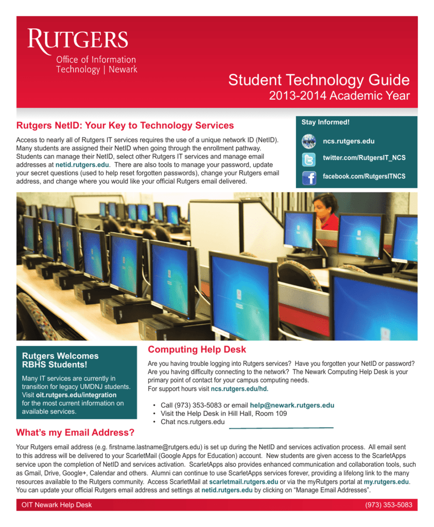 student technology guide - newark computing services
