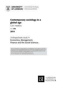 Contemporary sociology in a global age