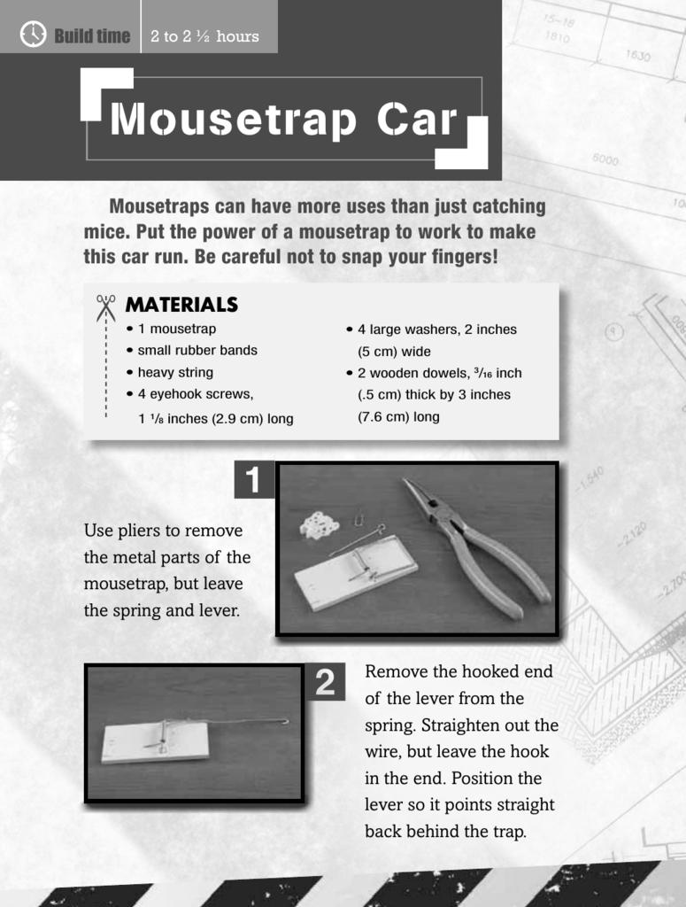 Mousetrap Car 1 2