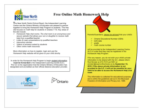 Free Online Math Homework Help - Near North District School Board