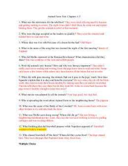 animal farm order of events answer key rh studylib net animal farm study guide answers pdf animal farm study guide answers chapter 5-7