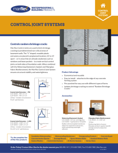 Control Joint Brochure - Mar-flex