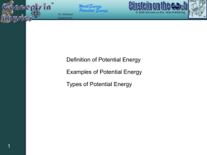 Definition of Potential Energy Examples of Potential Energy Types of