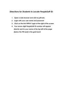Directions for Students to Locate PeopleSoft ID: