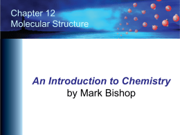 Chapter 12 - An Introduction to Chemistry