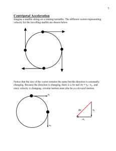 Uniform circular motion: Movement in a circle at a constant speed