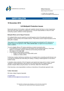 16 November 2010 - ILS Multipath Protection