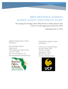 Brevard public schools School Safety and Climate Study