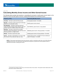 Calculating Monthly Gross Income and Other Earned