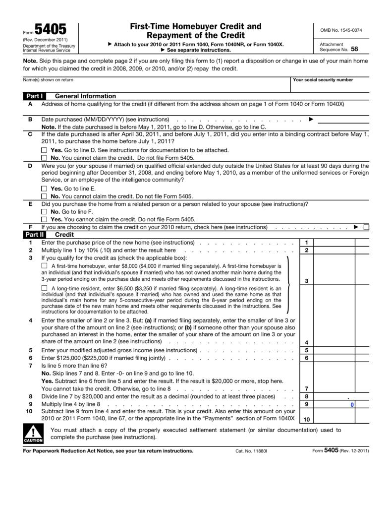 form 5405 instructions - People.davidjoel.co