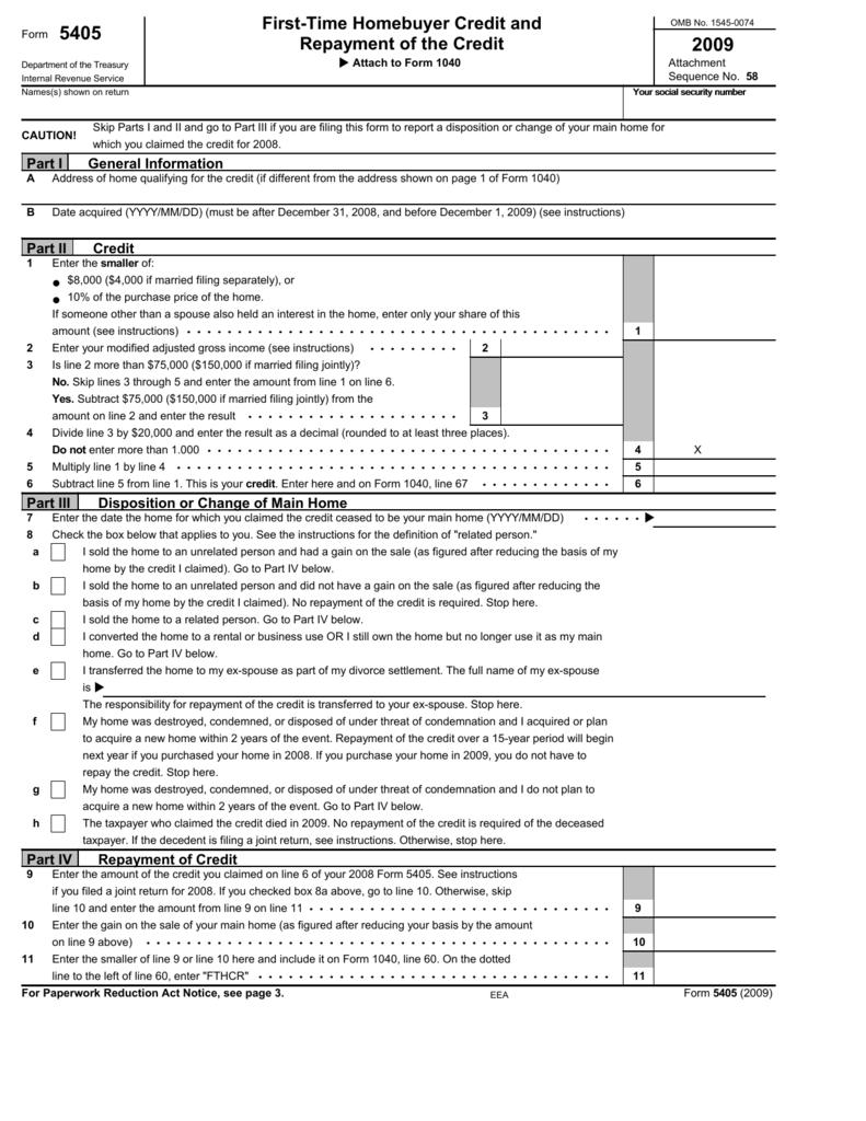 Form 5405 - Taxlegend201 com
