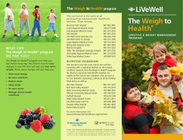 The Weigh to Health - Intermountain Healthcare