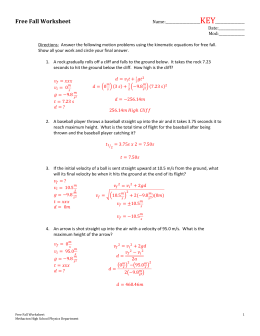 INQUIRY PHYSICS TEST REVIEW II Name Units 1
