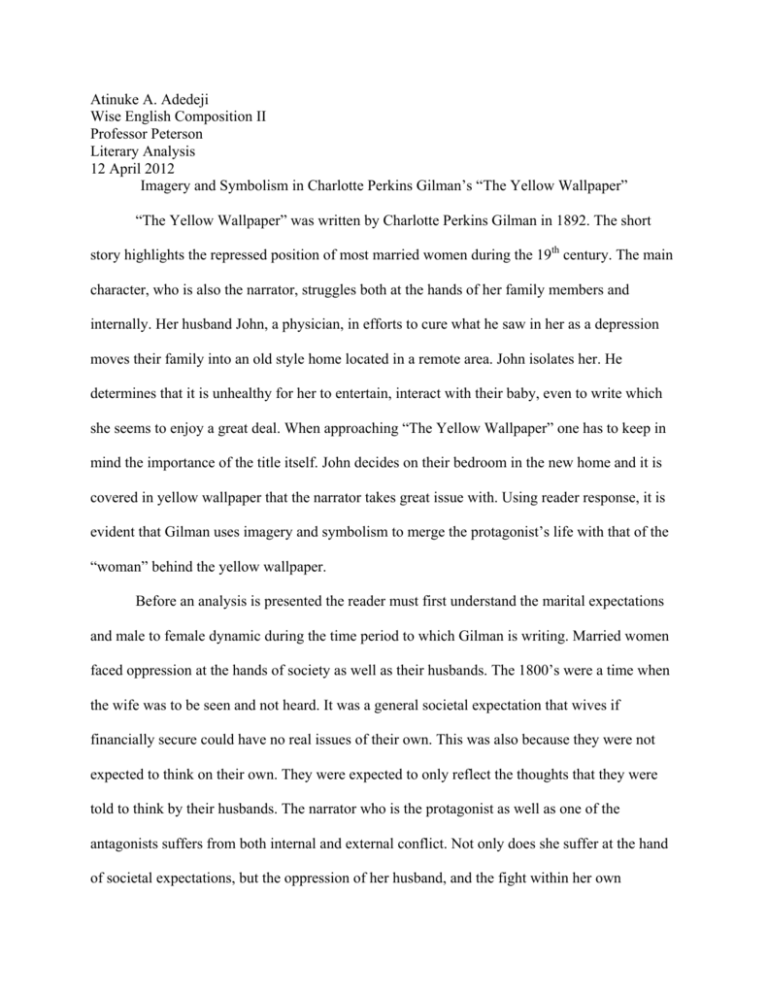First Draft Of My Literary Analysis