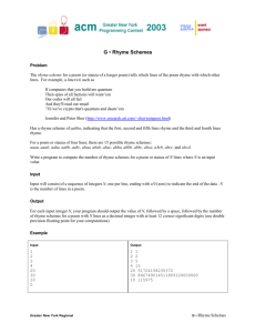 G • Rhyme Schemes - ACM ICPC Greater New York Region Contest