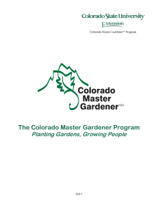 The Colorado Master Gardener Program