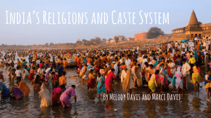 India's Caste System and Religions