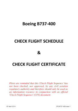 Check Flight Schedule B737-400