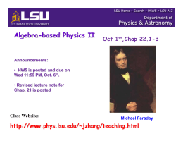 Chapter22 - LSU Physics & Astronomy