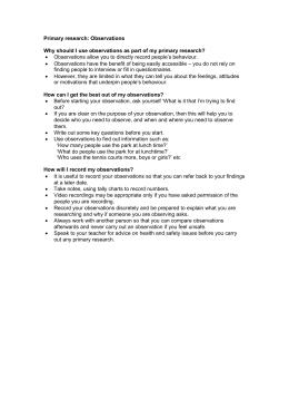 psychology observation paper