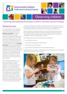Observing children - Early Childhood Australia